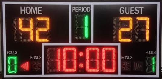 HMI Technologies LED sports scoreboards