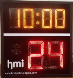 Wireless Basketball Shot Clock by HMI Technologies, Auckland, New Zealand